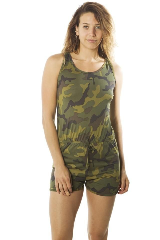 e04b133f1f49 Ladies fashion camo-ladies racer back camouflage romper shorts  fashion   clothing  shoes  accessories  womensclothing  jumpsuitsrompers (ebay link)