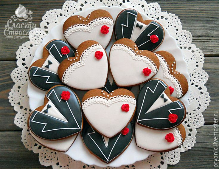 40 Best Wedding Cookies Images On Pinterest