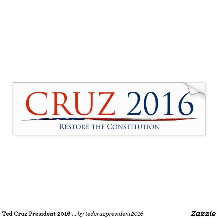 Ted Cruz President 2016 Restore the Constitution Car Bumper Sticker