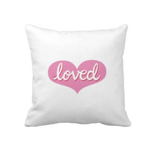 Throw Pillow Pink heart design Available in a range of styles and designs