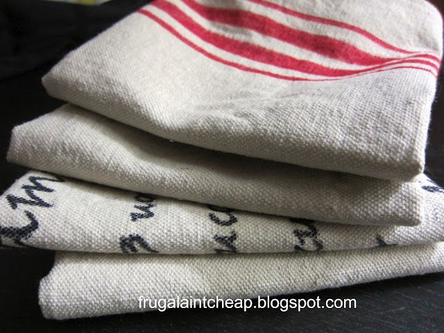 DIY Dish Cloths, Easy Gift Idea - made with drop cloth and a sharpie or fabric paint.