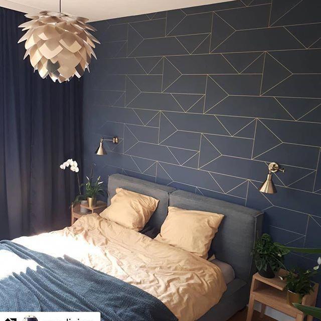 Polskiewnetrza Bedroom Dark Wallpaper Bedroom Ideas Interior Forinspo Mendobry Mi Blue Wallpaper Bedroom Master Bedroom Wallpaper Master Bedroom Accents Dark bedroom wallpaper ideas