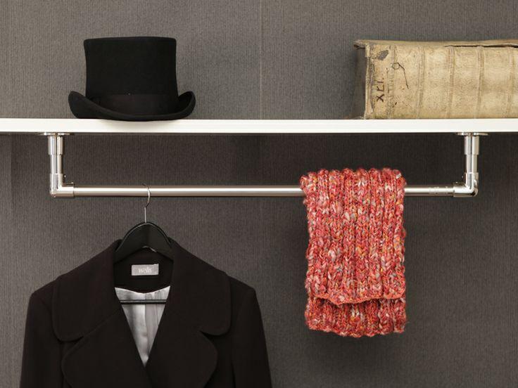 garderobenstangen im zeitlosen klassischen design die garderobenstange aus edelstahl in u form. Black Bedroom Furniture Sets. Home Design Ideas