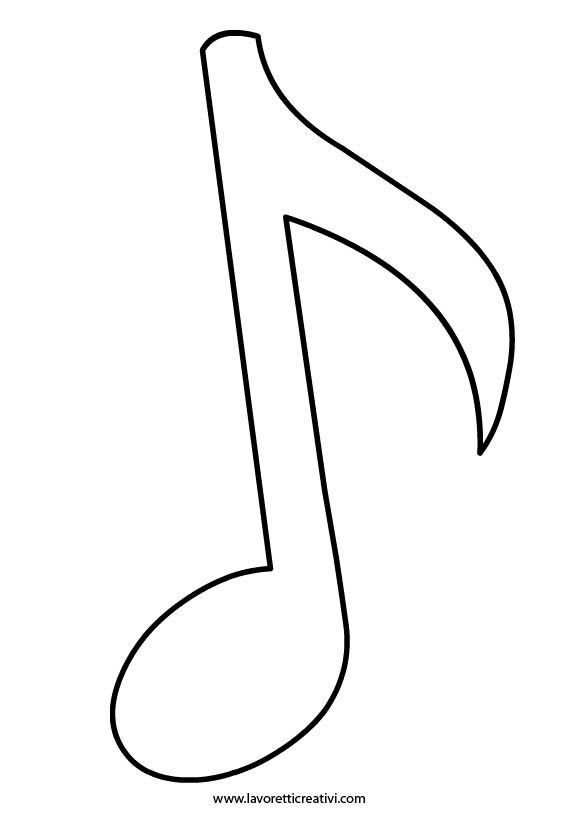 sagoma-nota-musicale-1 DIY Pinterest Music, Music Notes and