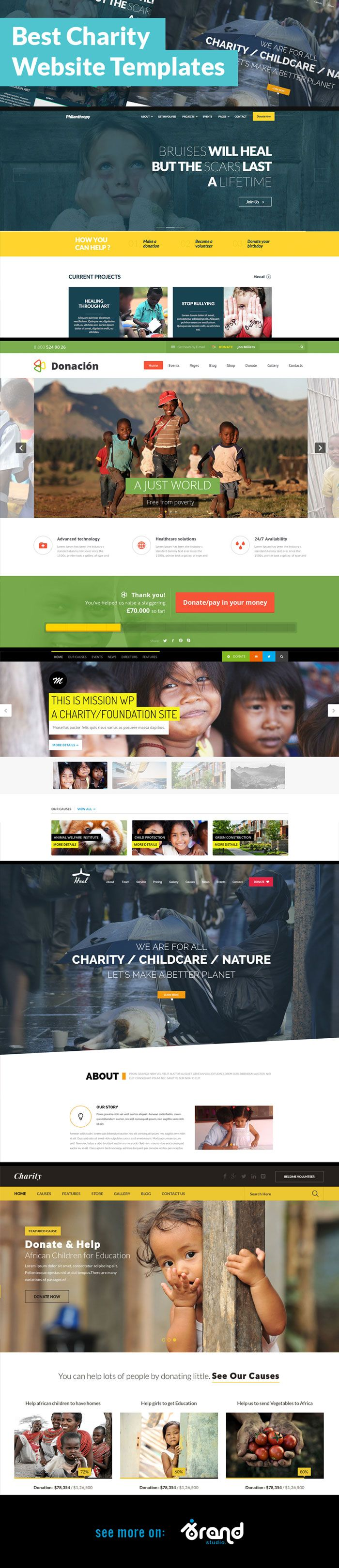 11 Effectively Designed Non-profit anc #Charity #Website Templates