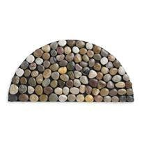 """Pebbles Arc Doormat by Chiasso. $58.00. Contemporary rubber base. 30.3""""L x 15""""W x .5""""H. Real river rocks in warm neutrals form a modern and welcoming semi-sphere for guests at your doorstep. Real river rocks in warm neutrals form a modern and welcoming semi-sphere for guests at your doorstep. Contemporary rubber base."""