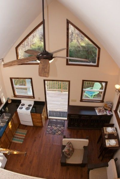 400 Sq Ft Cabin With Deck Tiny House Pinterest You