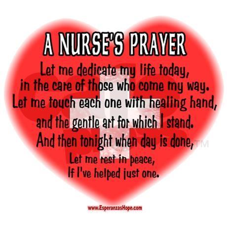 A nurse's prayer Ornament (Round) on CafePress.com