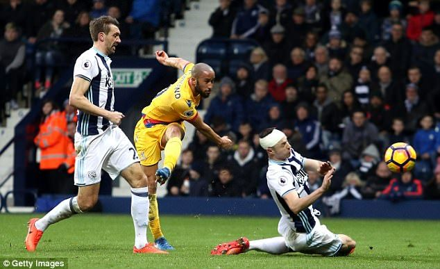 March 4th. 2017: Andros Townsend scores with a stunning strike as Crystal Palace win 2-0 at West Brom