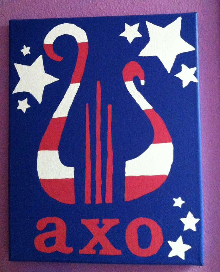 Alpha Chi O'merica hand made canvas :) @Jillian Medford Medford Miller please!