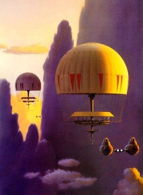 atomic-chronoscaph:  Cloud City Concept Art by Ralph McQuarrie