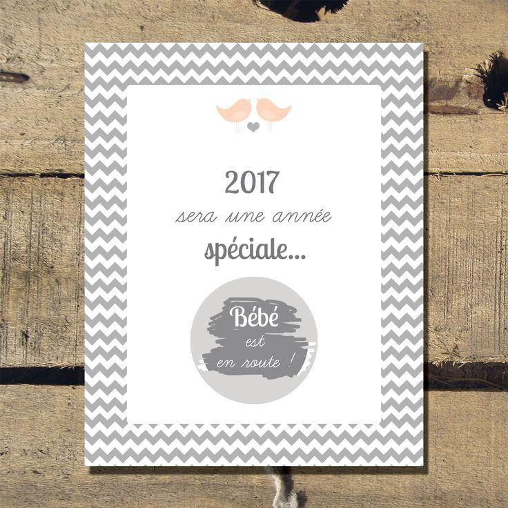 "Image of 5 Cartes à gratter ""2017"" / Annonce grossesse"