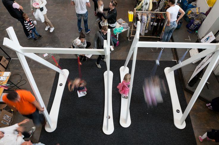 Lillagunga swings stands at Helsinki design Week 2016. @heldesignweek  © Aino Huovio