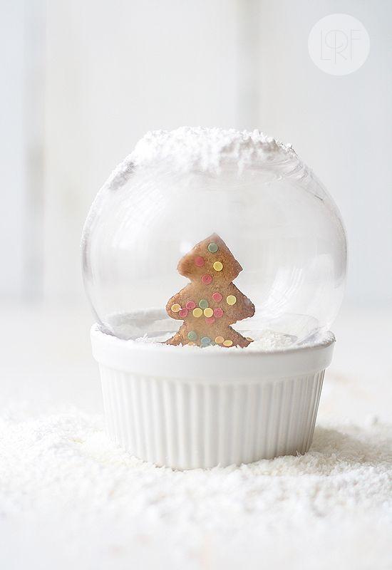 Galletas de jengibre. Idea para decorar postres en Navidad