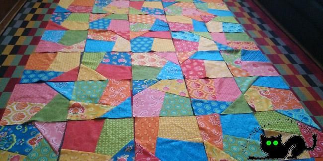 Consigue un diseño original y llamativo con está técnica de patchwork.