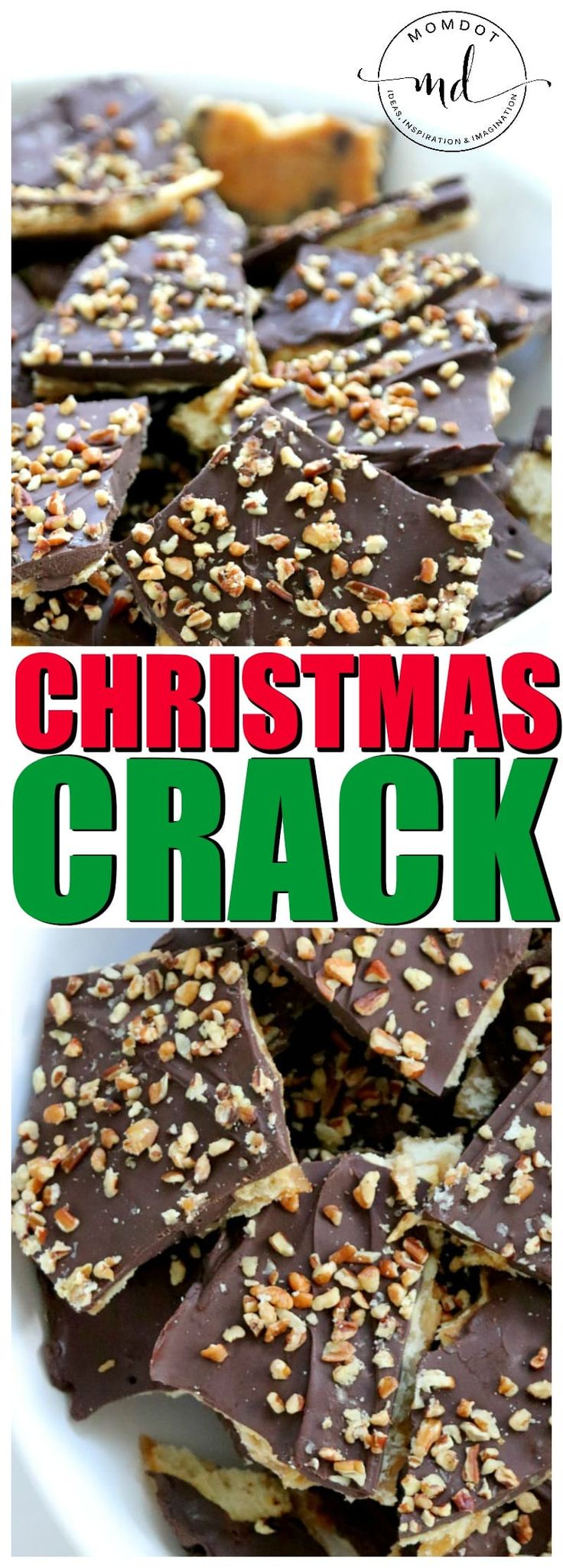 Christmas Crack Recipe, Ritz cracker toffee, homemade caramel and chocolate coated crackers for an addicting holiday treat