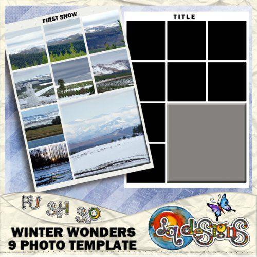 JQD Winter Wonders 9 Photo Template A4