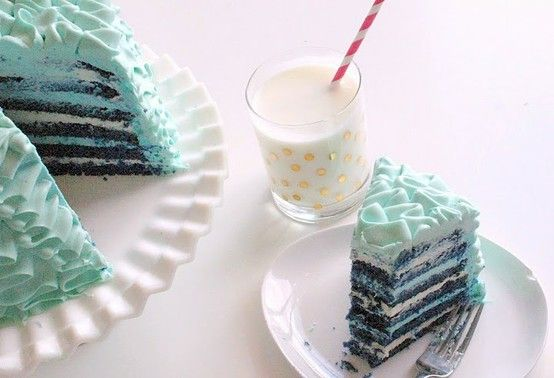 Blue Velvet cake!  This could be the first time I actually want blue food!!