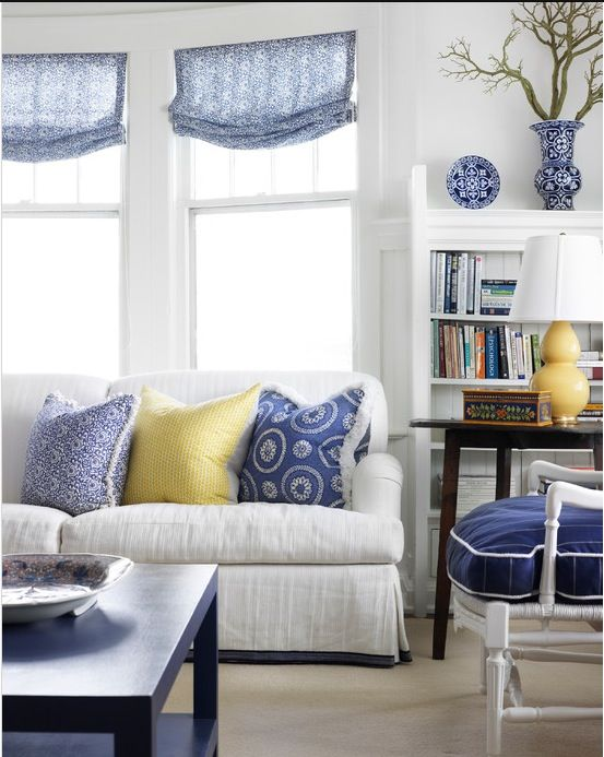 586 best Blue in rooms images on Pinterest . Blue And White Living Rooms. Home Design Ideas