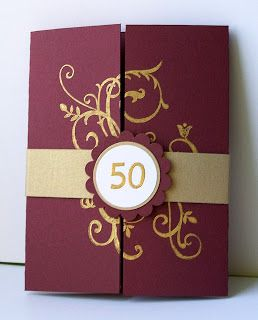 Julie's Stamping Spot -- Stampin' Up! Project Ideas Posted Daily: 50th Anniversary Invite & Favor