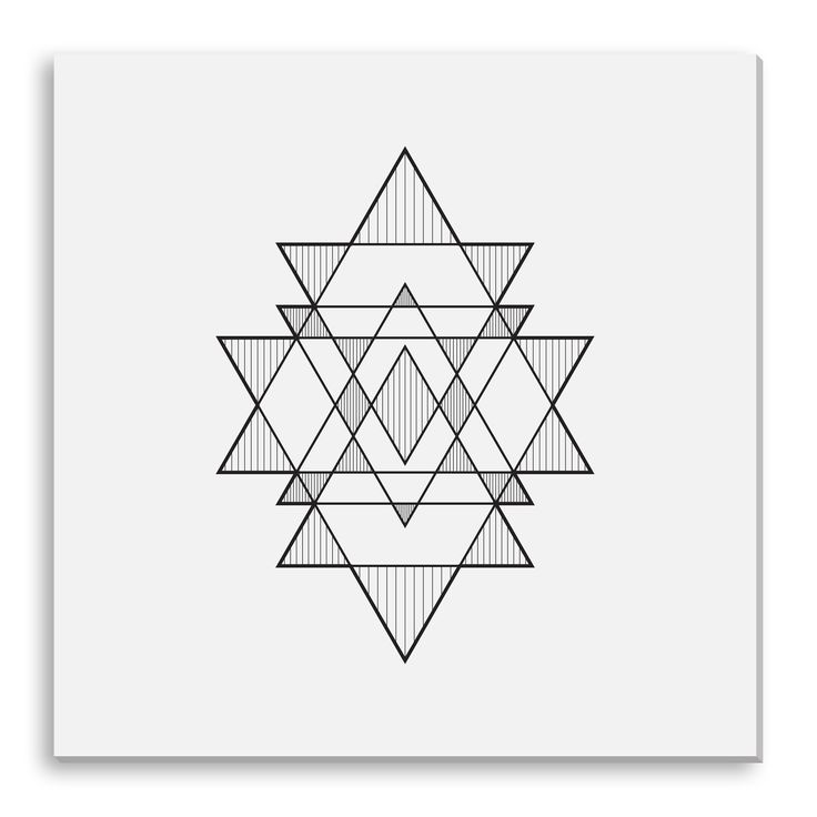 Seize the geometric trend with this print on canvas. The perfect way to add character and depth to your room, it is printed using archival inks on artist grade canvas. Artist: Kovalto1 Title: Triangle