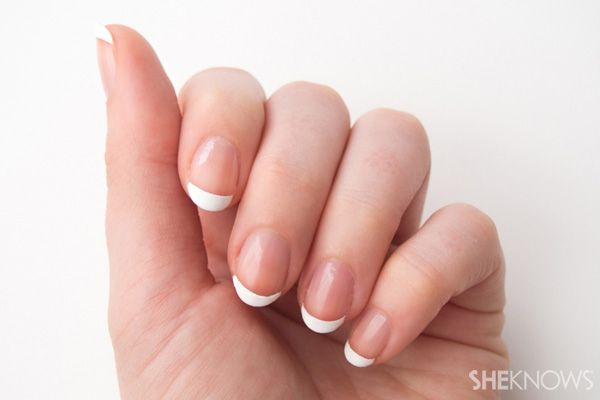 8 Step do-it-yourself French manicure #howto