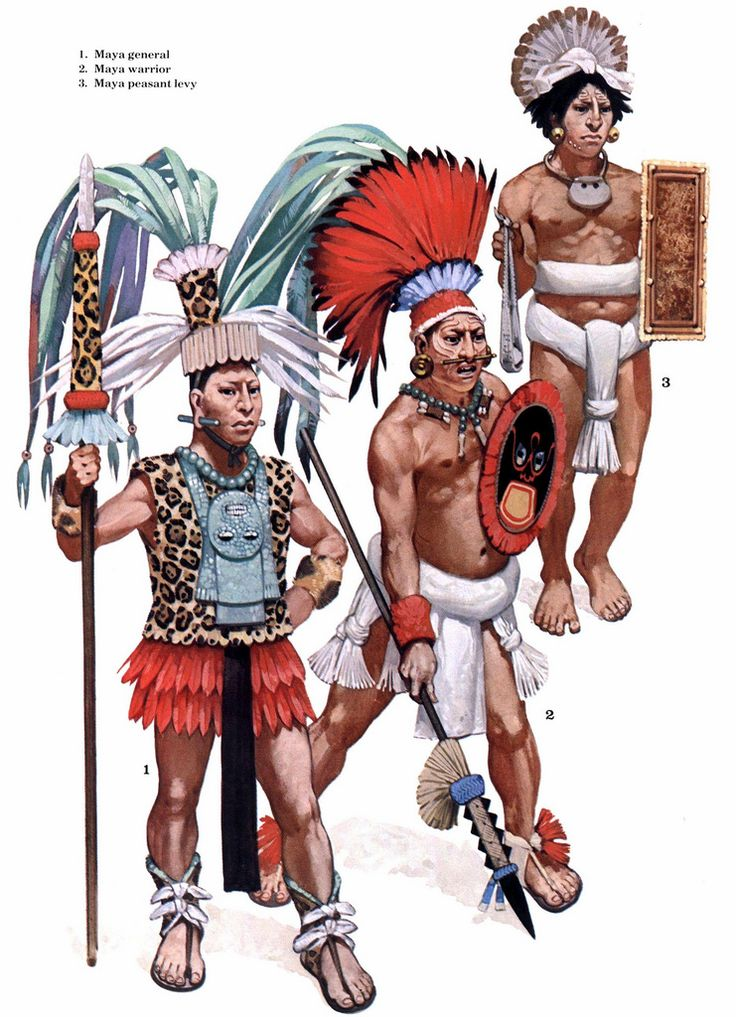 Guerriers mayas.