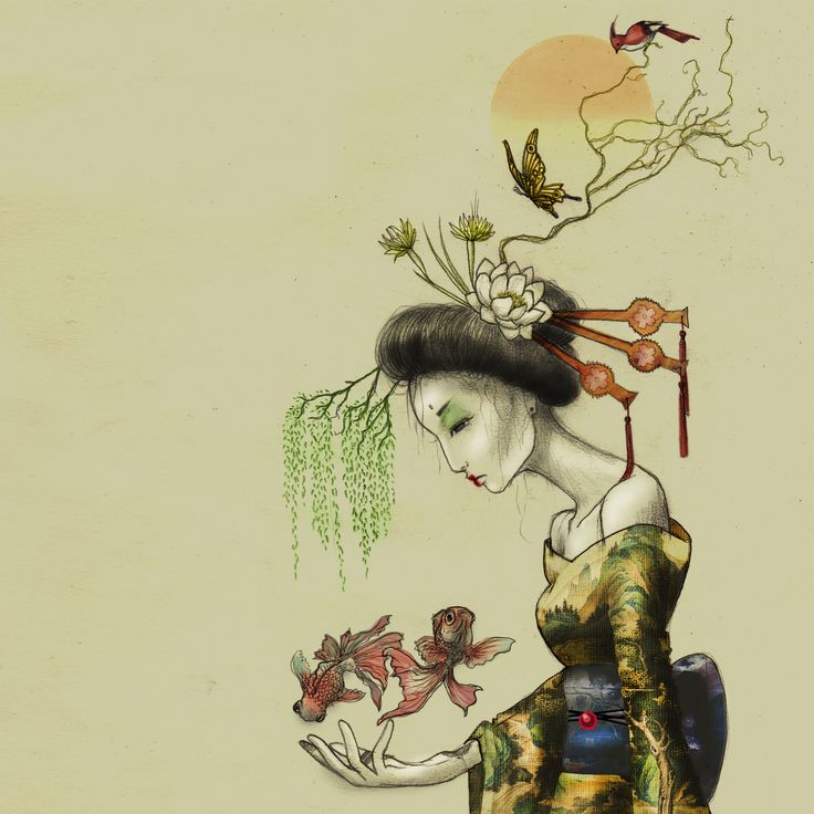 Ikebana headpiece.