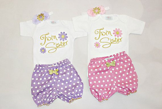 daf8688d195 Twin Sisters Outfits Twin Girl Clothes Newborn Twins Girls