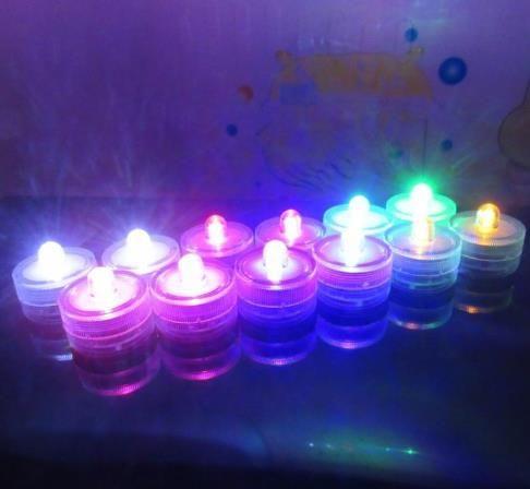 Подводный погружные свеча Непламено СВЕТОДИОД Tealight Водонепроницаемый электронный свечи света Свадьба День Рождения Рождество красочный