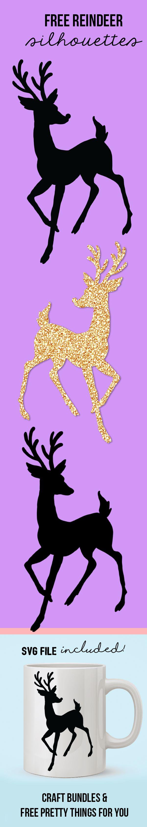best 25 reindeer silhouette ideas on pinterest santa sleigh