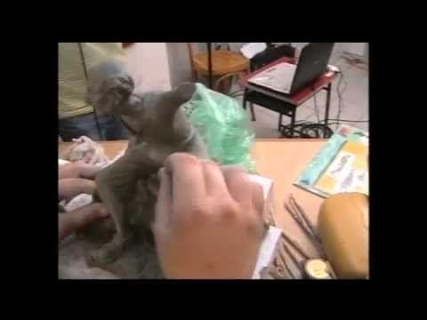 3/7 - Creare e costruire statue per presepe con i F.lli De Matteis - Fare presepi con l'AIAP - YouTube