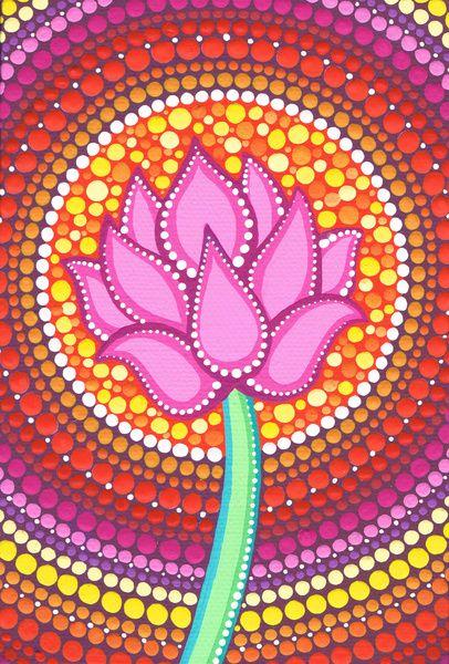 Pink Lotus Art Print by Elspeth McLean | Society6