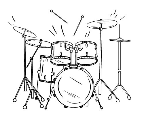 Free printable drum coloring pages sketch coloring page for Drum coloring pages to print