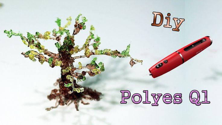 Polyes Q1: Albero 3D effetto Resina | Making trees using a 3D Printing Pen! Video del Giveaway Polyes Q1: https://www.youtube.com/watch?v=CcHkpEXJA3E Polyes Q1:Link al sito italiano : http://www.stampa3dsud.it/penne-3d/400-penna-3d-in-resina-dlp-polyes-q1-garanzia-italia.html Polyes Q1:Link al sito originale :http://www.3dp.fm/ Codice del 5% di sconto! Il codice è : Lady Giorgia