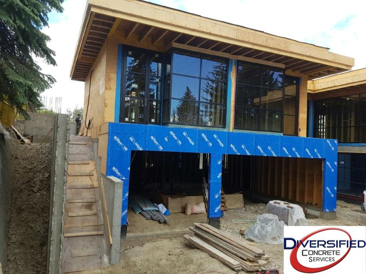 Structural stairs for a contemporary mansion. They will be heated with stone overlay.  #diversifiedconcreteservices #yyc #concrete #stairs