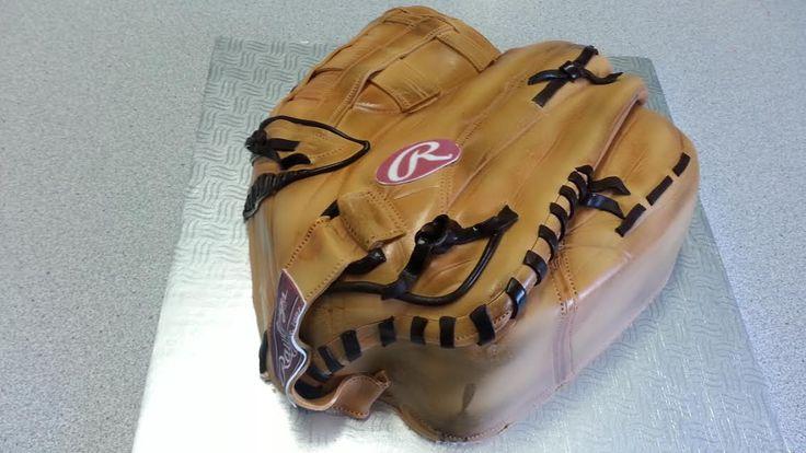 Gâteau gants baseball - Cake  - Gâteau fondant