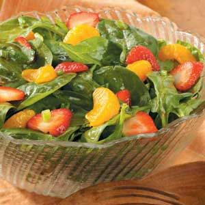 Spinach Salad with Red Currant Dressing ---- This pretty salad can be ...