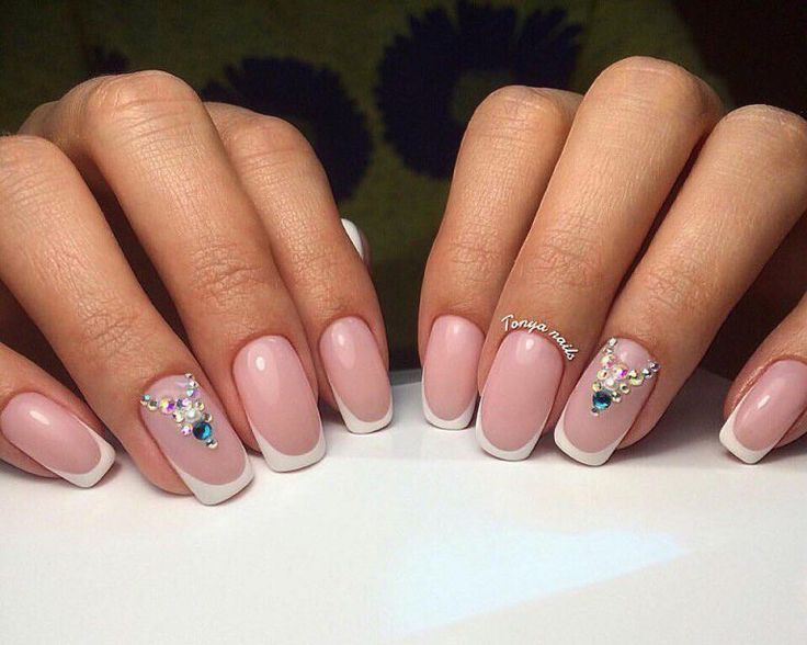 Beautiful wedding nails, Delicate wedding nails, French manicure ideas, French…