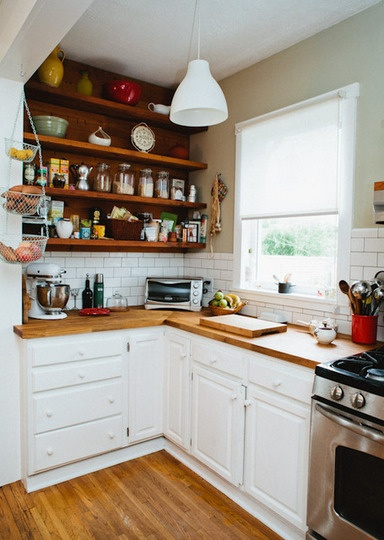 Love this kitchen, subway tiles and all.