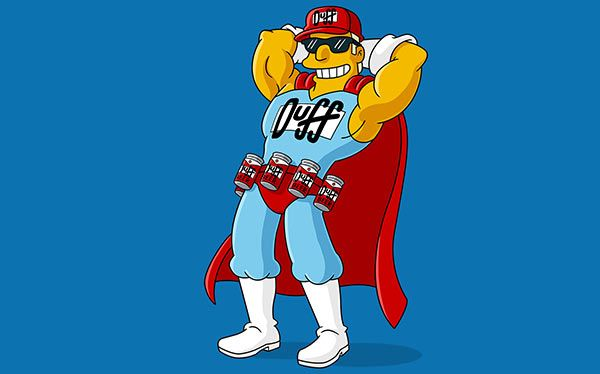 DIY Simpsons Duffman Costume - maskerix.com