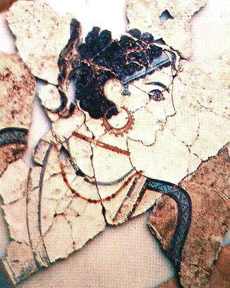 Akrotiri closeup of fresco