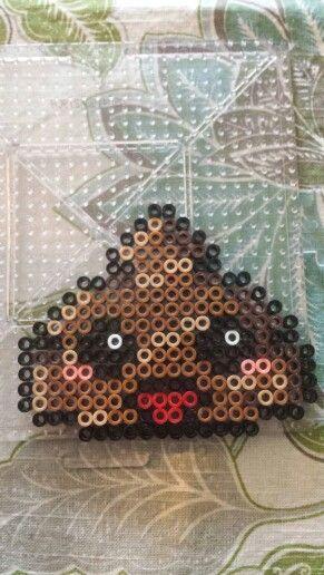 Perler bead poo emoji by Emily snider