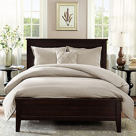 The Linen Duvet Cover from Harbor House offers casual sophistication. Its 100% linen cover has a simple design and beautiful texture that promises comfort and luxury, and is reversible for two stylish looks in one.