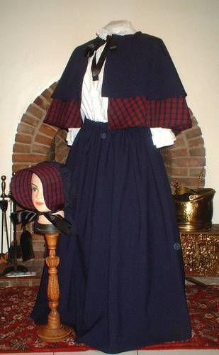 Christmas Victorian Dickens Carol Caroler Costume Skirt Cape Fancy Dress Outfit | eBay