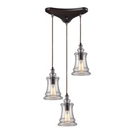 westmore lighting alvingham 10in w oiled bronze mini pendant light with clear shade