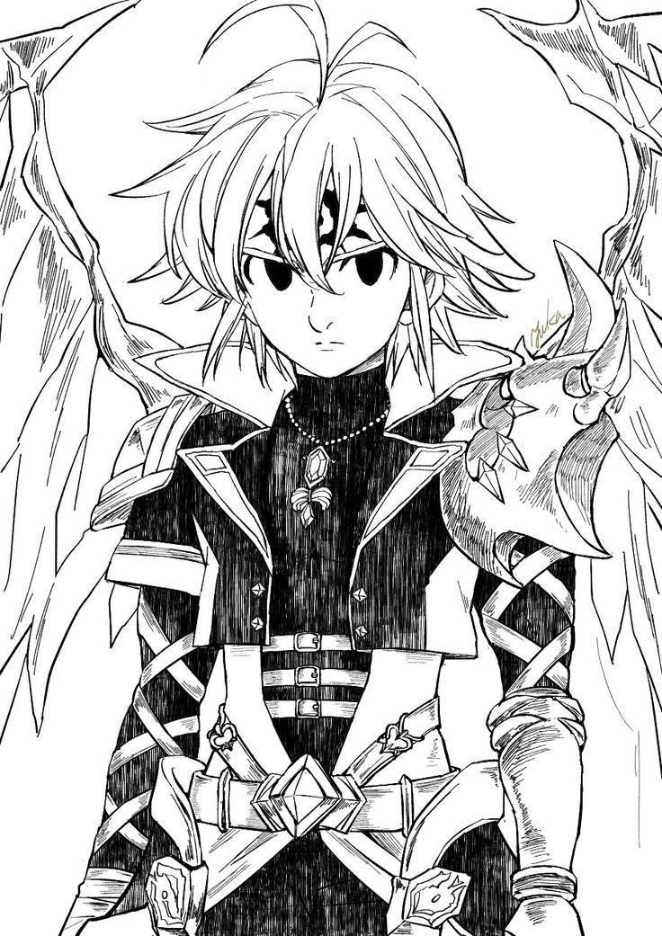 Twitter yuka_sai0127 Nanatsu, Meliodas, Olhos de anime