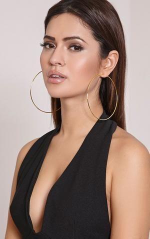 Women S Oversized Gold Hoop Earrings