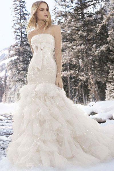 Обтягивающие платья Вера Вонг без бретелек