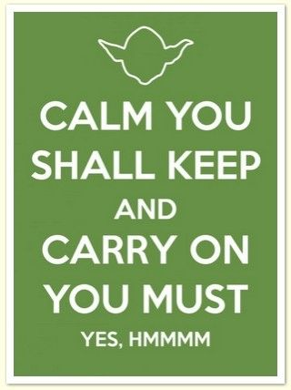 """Haha no it should be """"Calm you shall keep and carry me you must"""""""